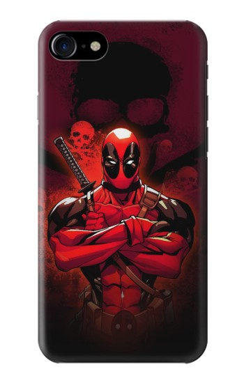 Printed Deadpool Skull Iphone 7 Case