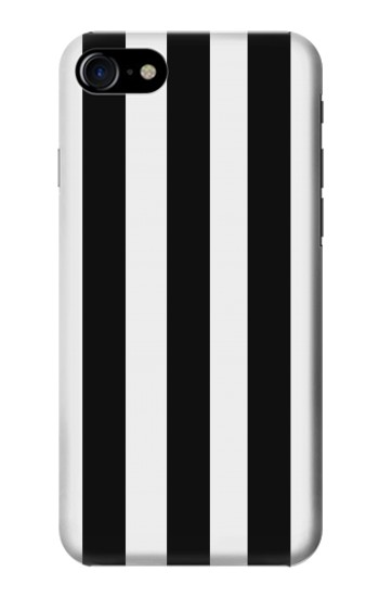 Printed Black and White Vertical Stripes Iphone 7 Case