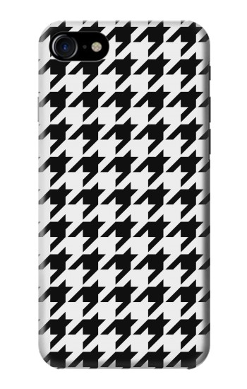 Printed Black White Houndstooth Monogram Pattern Iphone 7 Case