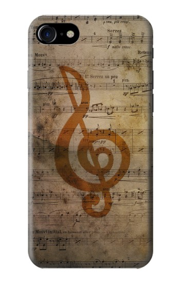 Printed Sheet Music Notes Iphone 7 Case