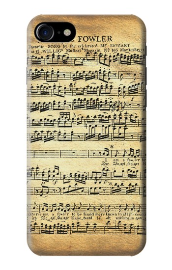 Printed The Fowler Mozart Music Sheet Iphone 7 Case