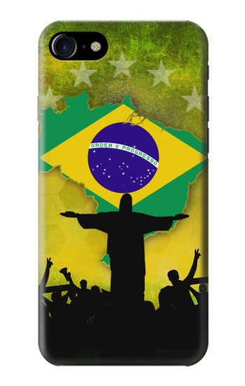 Printed Brazil Football Flag Iphone 7 Case