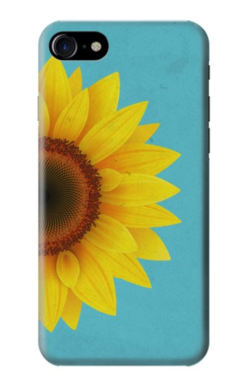 Printed Vintage Sunflower Blue Iphone 7 Case