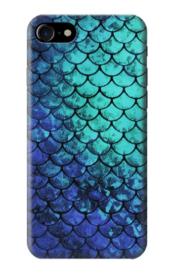 Printed Green Mermaid Fish Scale Iphone 7 Case
