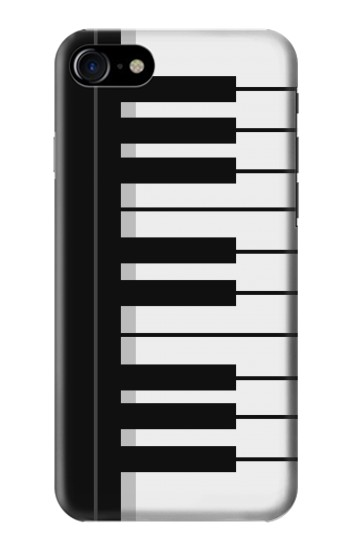 Printed Black and White Piano Keyboard Iphone 7 Case