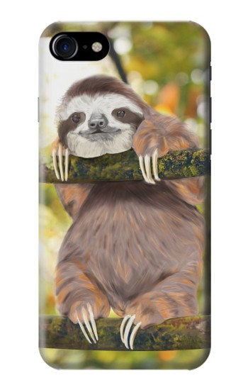 Printed Cute Baby Sloth Paint Iphone 7 Case