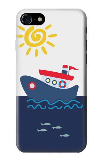 Printed Cartoon Fishing Boat Iphone 7 Case