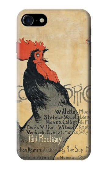 Printed Cocorico Rooster Vintage French Poster Iphone 7 Case