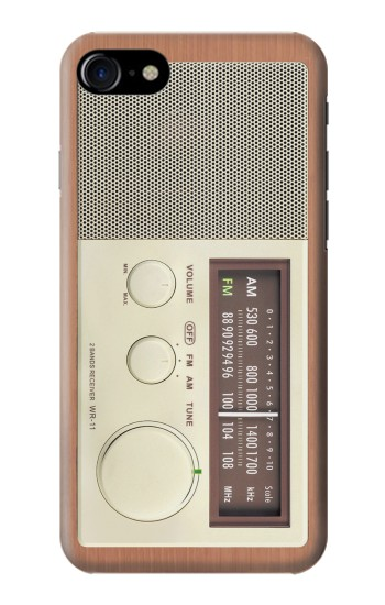 Printed FM AM Wooden Receiver Graphic Iphone 7 Case