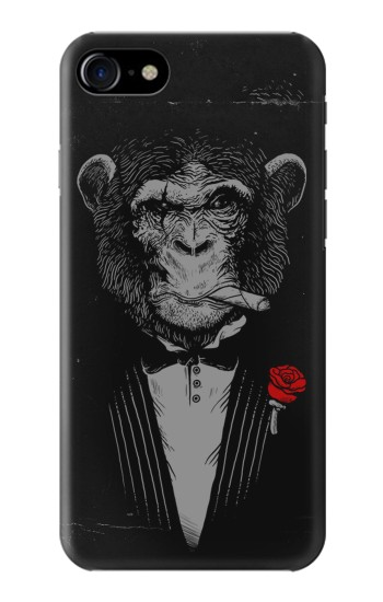 Printed Funny Monkey God Father Iphone 7 Case