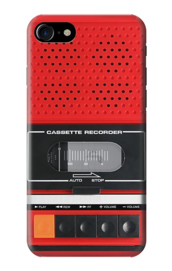 Printed Red Cassette Recorder Graphic Iphone 7 Case