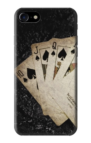 Printed Vintage Royal Straight Flush Cards Iphone 7 Case