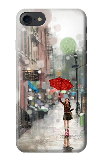 Printed Girl in The Rain HTC One E9+ Case