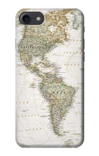 Printed World Map HTC One E9+ Case