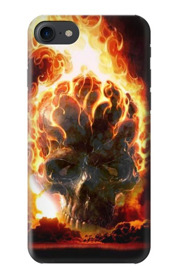 Printed Hell Fire Skull HTC One E9+ Case