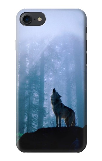 Printed Wolf Howling in Forest HTC One E9+ Case