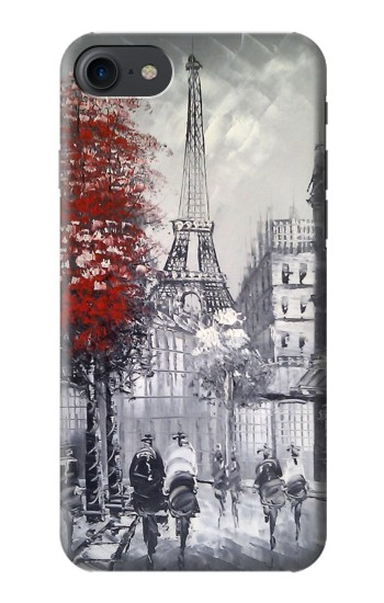 Printed Eiffel Painting of Paris HTC One E9+ Case