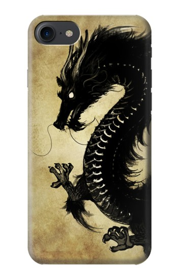 Printed Black Dragon Painting HTC One E9+ Case