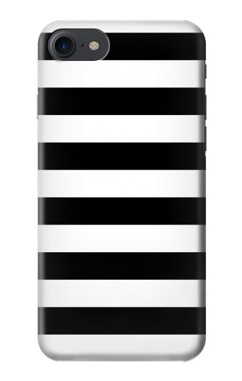 IPHONE 8 Black and White Striped Case Cover