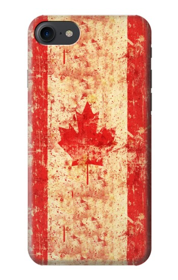 Printed Canada Flag Old Vintage HTC One E9+ Case