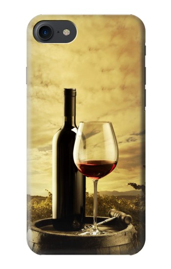 Printed A Grape Vineyard Grapes Bottle and Glass of Red Wine HTC One E9+ Case