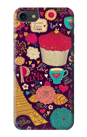 Printed Paris Cartoon Vintage Pattern HTC One E9+ Case