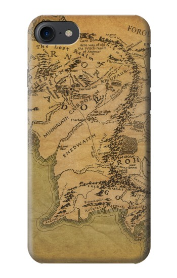 Printed The Lord Of The Rings Middle Earth Map HTC One E9+ Case