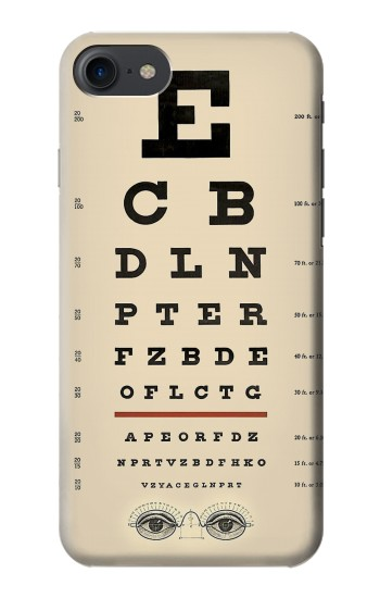 Printed Eye Exam Chart Decorative Decoupage Poster HTC One E9+ Case