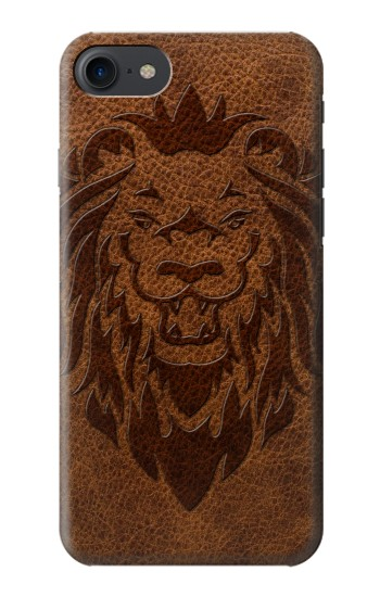 Printed Leo Tattoo Brown Leather HTC One E9+ Case