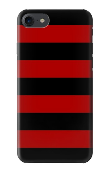 Printed Black and Red Striped HTC One E9+ Case