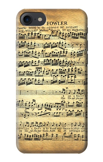 Printed The Fowler Mozart Music Sheet HTC One E9+ Case
