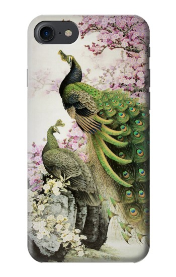 Printed Peacock Chinese Brush Painting HTC One E9+ Case