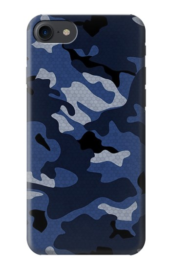 Printed Navy Blue Camouflage HTC One E9+ Case