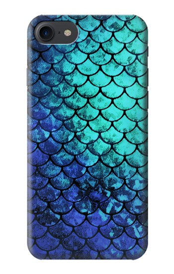 Printed Green Mermaid Fish Scale HTC One E9+ Case