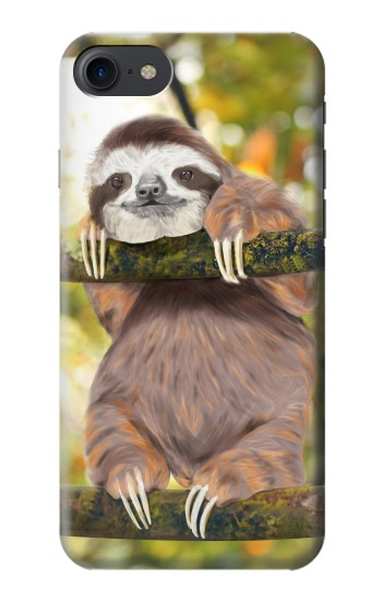 Printed Cute Baby Sloth Paint HTC One E9+ Case