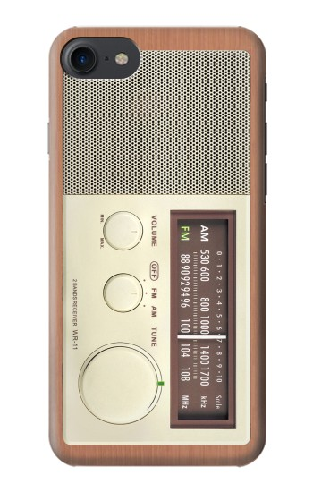 Printed FM AM Wooden Receiver Graphic HTC One E9+ Case