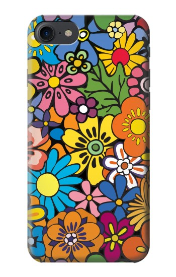 Printed Colorful Flowers Pattern HTC One E9+ Case