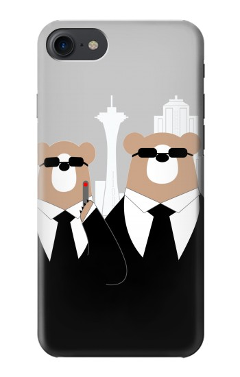 Printed Bear in Black Suit HTC One E9+ Case