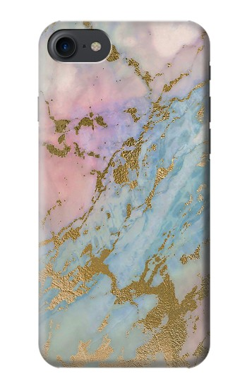 Printed Rose Gold Blue Pastel Marble Graphic Printed HTC One E9+ Case