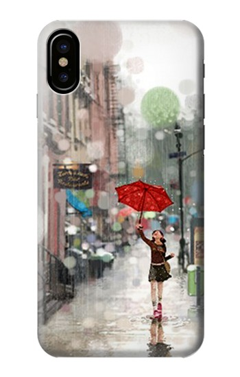 Printed Girl in The Rain HTC One M9+ Case