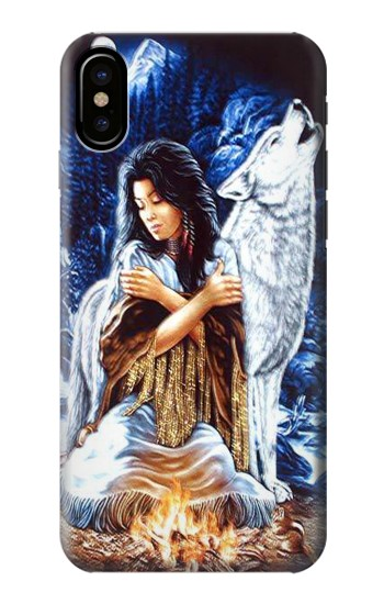Printed Grim Wolf Indian Girl HTC One M9+ Case