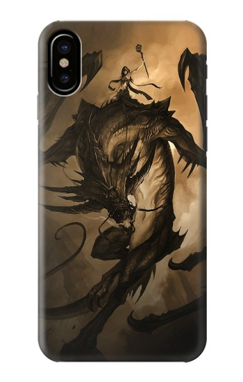 Printed Dragon Rider HTC One M9+ Case