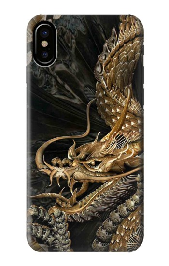 Printed Gold Dragon HTC One M9+ Case