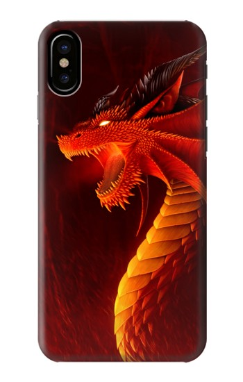 Printed Red Dragon HTC One M9+ Case