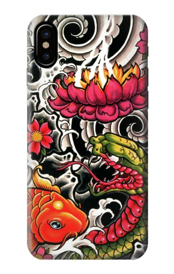 Printed Yakuza Tattoo HTC One M9+ Case