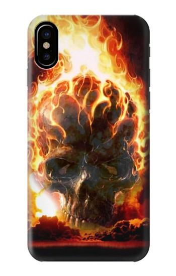 Printed Hell Fire Skull HTC One M9+ Case