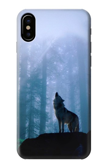 Printed Wolf Howling in Forest HTC One M9+ Case