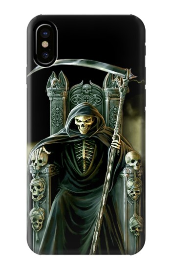 Printed Grim Reaper Skeleton King HTC One M9+ Case
