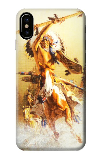 Printed Red Indian Warrior HTC One M9+ Case