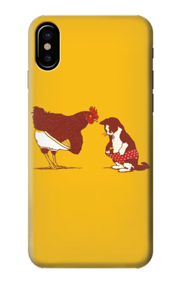 Printed Rooster and Cat Joke HTC One M9+ Case